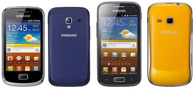 Samsung Galaxy 2 and Mini 2