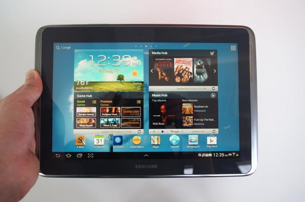 Samsung Galaxy Note 10.1 Review android home