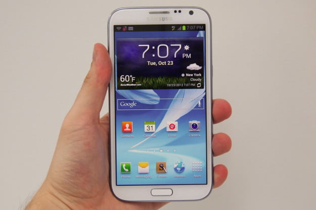 samsung galaxy note 2 hardware screen