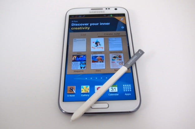 samsung galaxy note 2 s pen screen