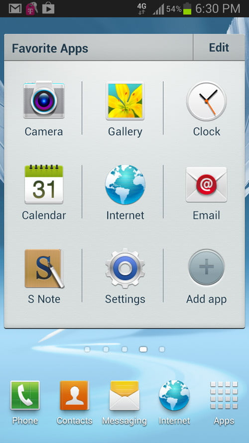 samsung galaxy note 2 software android favorite apps