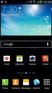 samsung galaxy note 3 android home