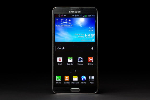 samsung galaxy note 3 front screen android