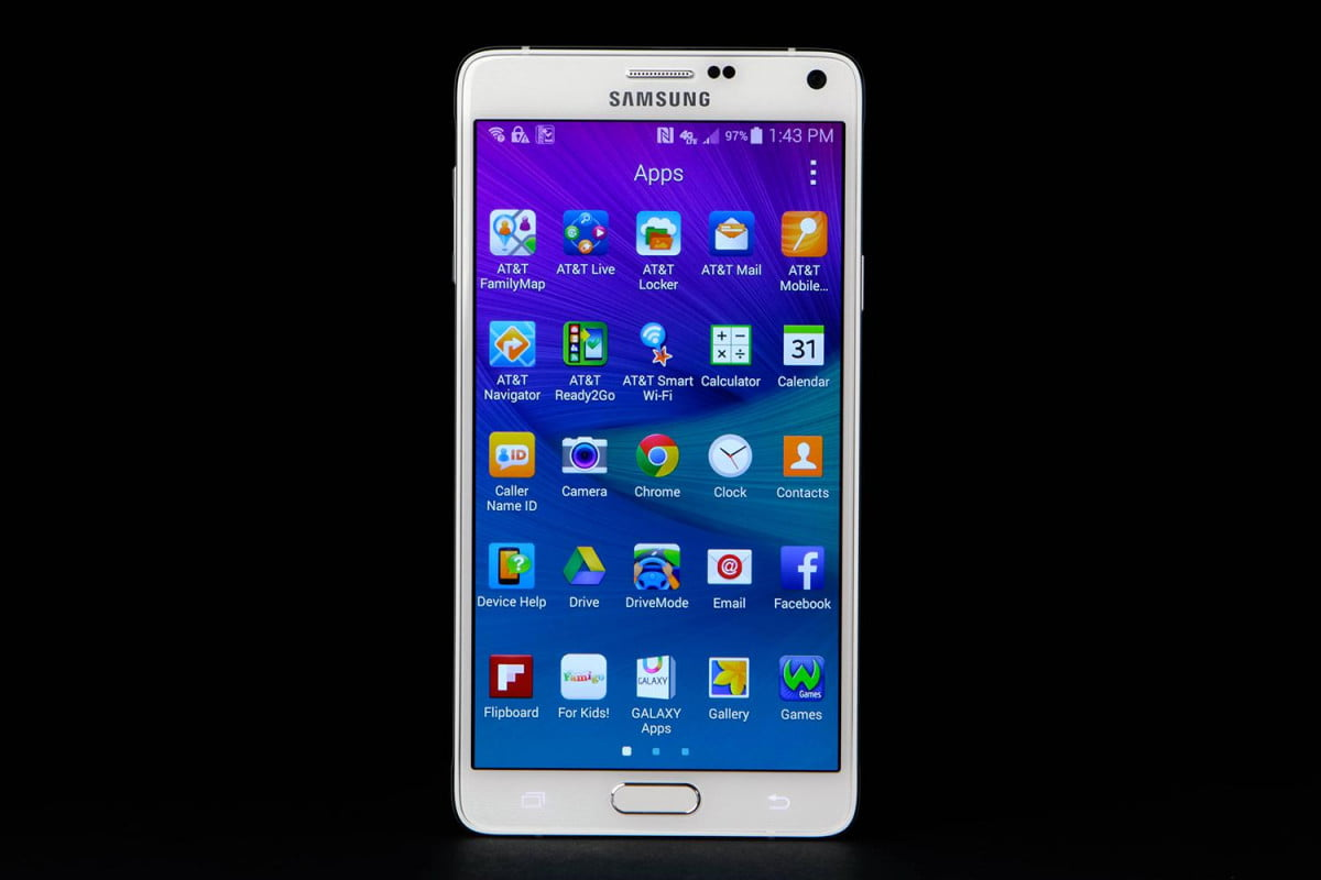 samsung forecasts first annual profit fall  years galaxy note front