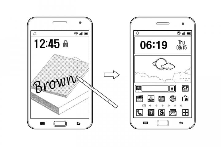 galaxy note  news samsung patent
