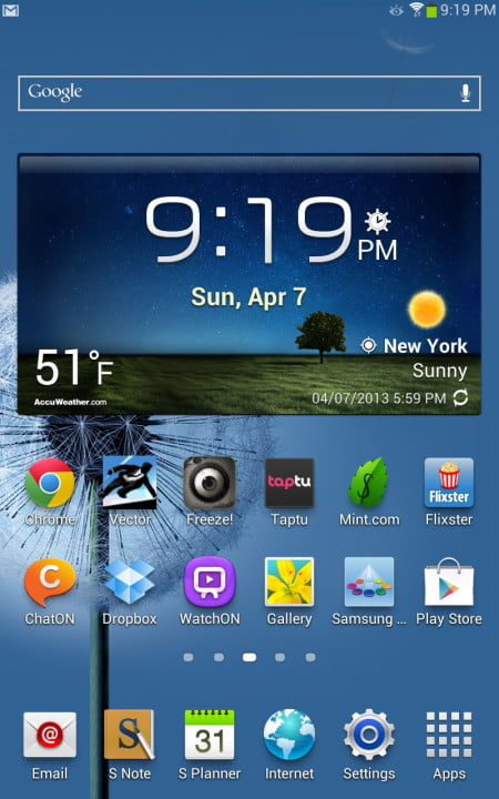 samsung galaxy note  review android home screen
