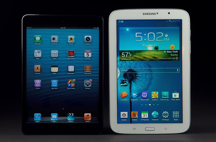 samsung galaxy note  review compared to ipad mini