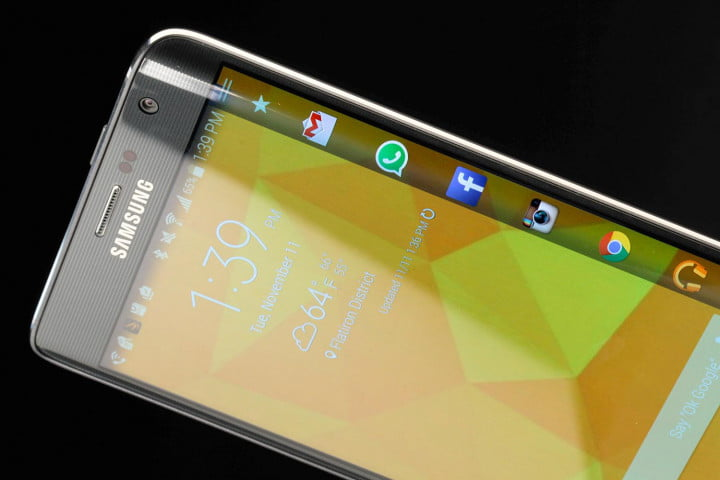 galaxy note edge review samsung top screen