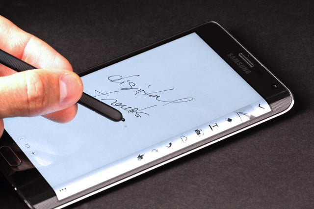 Samsung Galaxy Note Edge writing