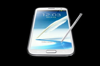 Samsung Galaxy Note II Taking Notes Stylus