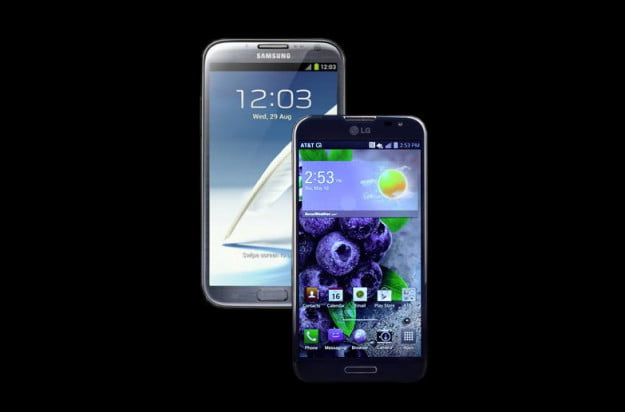 Samsung Galaxy Note II vs LG Optimus G Pro header