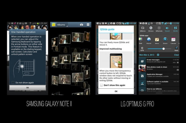 Samsung Galaxy Note II vs LG Optimus G Pro Multimedia