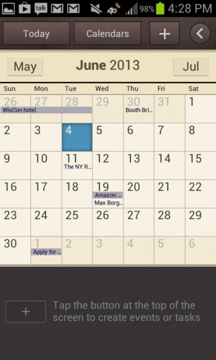 samsung galaxy rugby pro review screenshot calendar