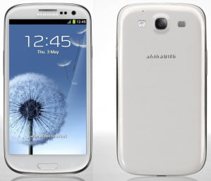 Samsung Galaxy S III front and back