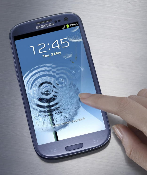 Samsung Galaxy S III water touch interface