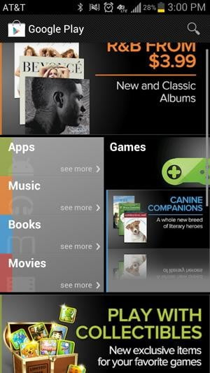 Samsung Galaxy S3 review screenshot google play app store android 4.0 ice cream