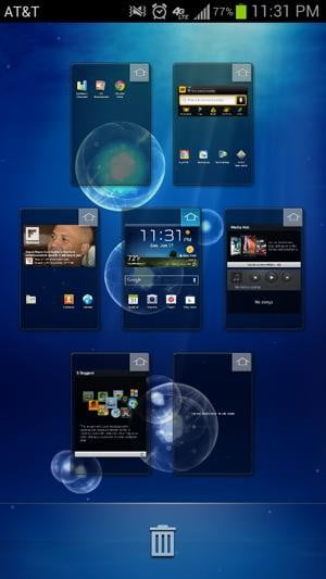 Samsung Galaxy S3 review screenshot multitasking switching windows android 4.0 ice cream