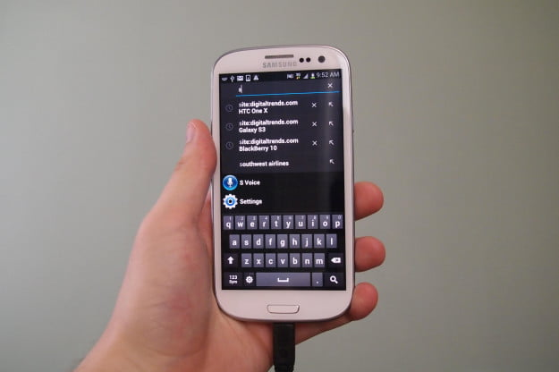 Samsung Galaxy S3 universal search