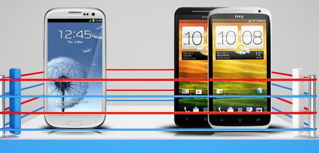Samsung Galaxy S3 vs HTC One X (aka the HTC EVO 4G LTE)