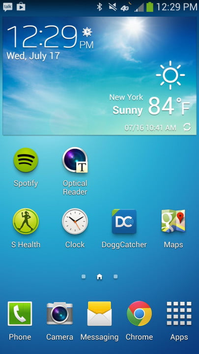 samsung galaxy s  active review screenshot widgets