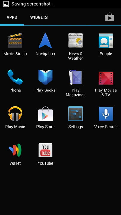 samsung galaxy s  google edition review googl screenshot app grid