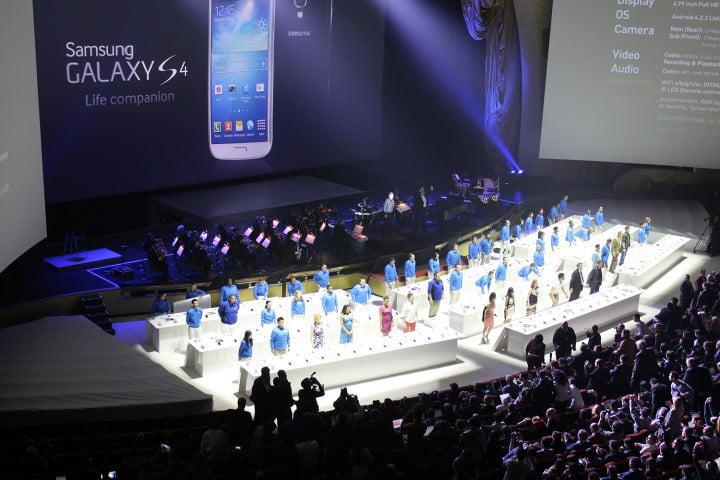 samsungs galaxy still isnt big enough to conquer times square samsung s  launch theater