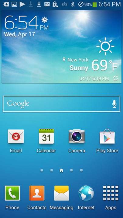 samsung galaxy s  review screenshot google svoice