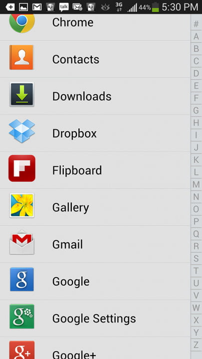 samsung galaxy s  review screenshot index