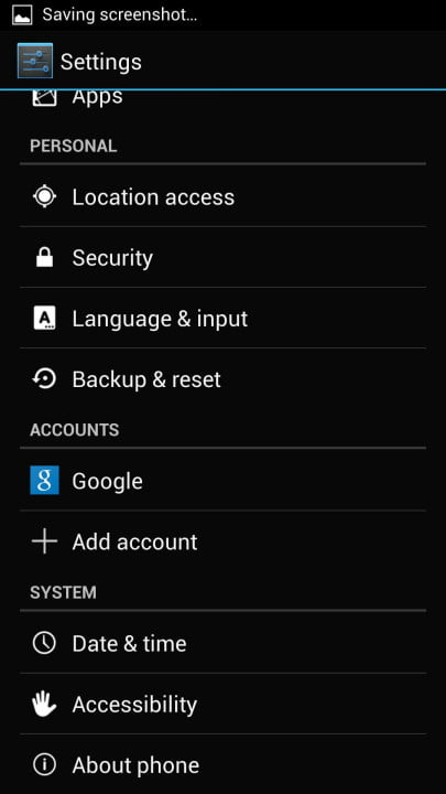 samsung galaxy s  google edition review screenshot settings