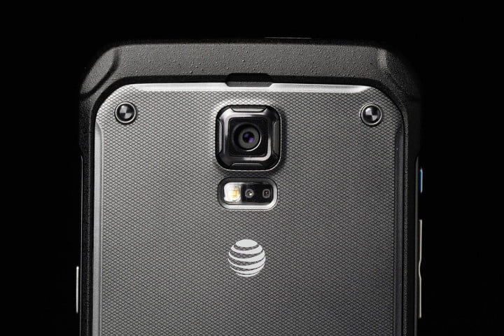 samsung galaxy s  active review back top