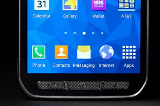 Samsung Galaxy S5 Active bottom screen