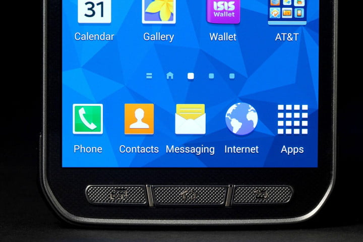 samsung galaxy s  active review bottom screen