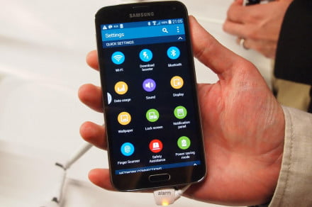 Samsung Galaxy S5 quick settings