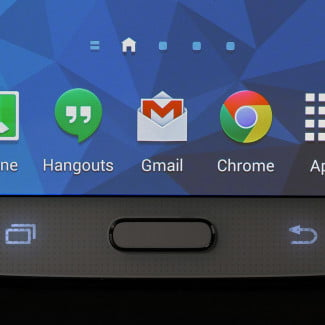 Samsung Galaxy S5 review front macro home button