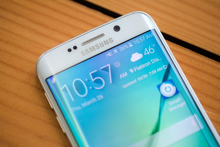 samsung galaxy s  edge review top angle