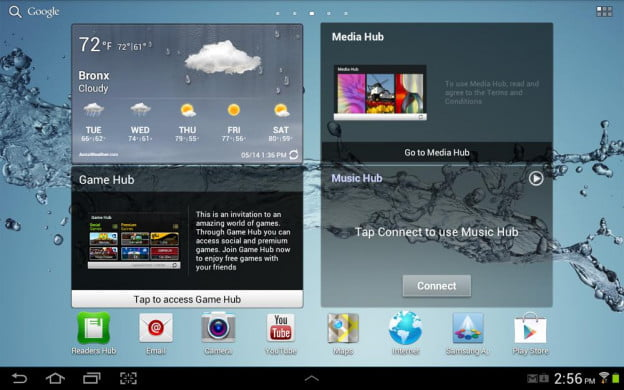 The Samsung Galaxy Tab 10.1 2 updates to Android 4.0