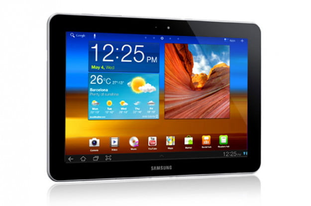 Samsung Galaxy Tab 10-1 screen angle right