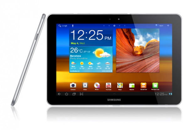 Samsung Galaxy Tab 10-1 screen and side