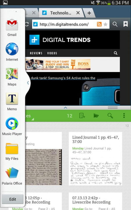 samsung galaxy tab  inch wi fi review screenshot browser