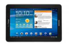 samsung galaxy tab  lte review front