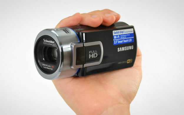 samsung hmx qf20 hand held camcorder review