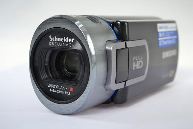 samsung hmx qf20 lens angle camcorder review