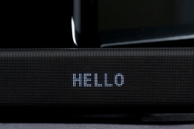 Samsung HW-H550 soundbar system display hello