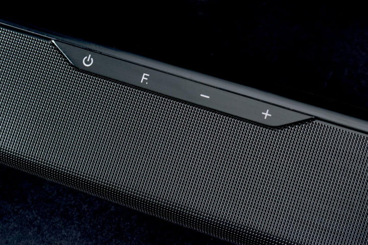 samsung hw f  review hwf soundbar system center buttons