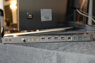 Samsung KN55S9C OLED TV breakout box top ports
