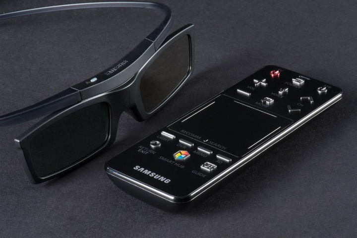 samsung pn  f review television remote and d glasses