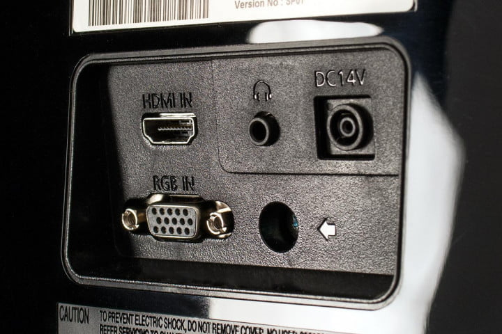samsung s  d h review monitor jack panel