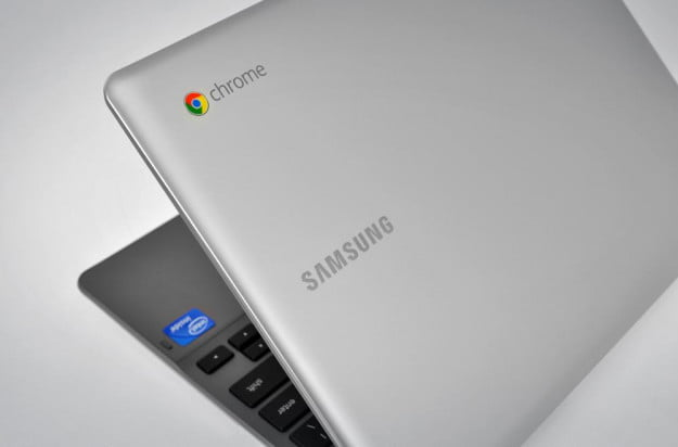samsung series 5 550 chromebook google chrome os laptop lid back logo