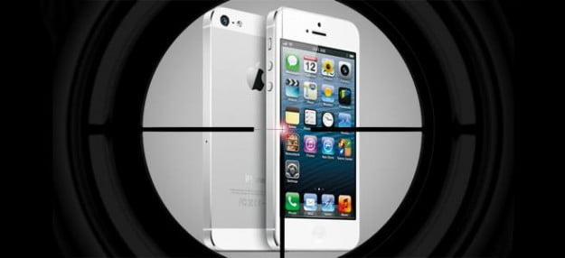 samsung suing iphone 5 crosshairs patent war