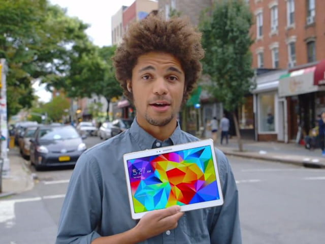 users pick tab s ipad air samsungs latest ad samsung advert